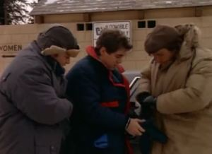 Everybody's bundled up in winter gear this episode. How big is their jurisdiction again?